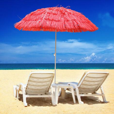 Hawaiian Parasol Beach Parasol Patio Garden Umbrella Sun Shade Tilting