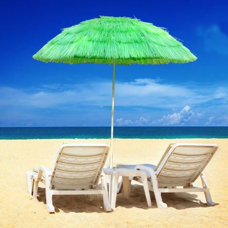 Hawaiian Parasol Beach Parasol Patio Garden Umbrella Sun Shade Tilting