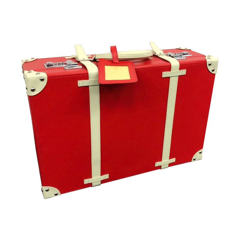Image of Red Hardcase Suitcase Travelbag with Combination Lock, Two Supplied - Haworth