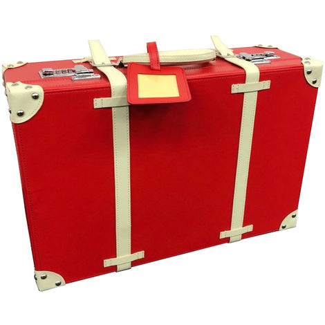 Haworth Red Hardcase Suitcase Travelbag with Combination Lock, Two Supplied