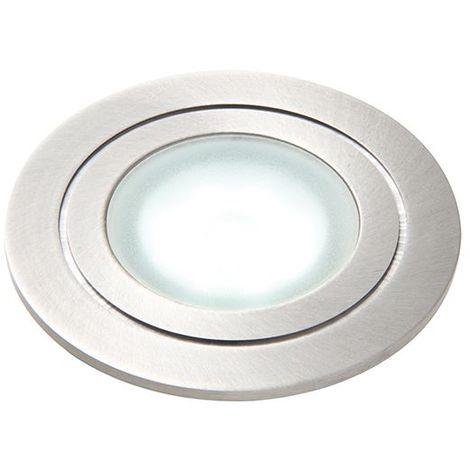 Hayz Round Daylight White Recessed Light - Marine Grade Brushed Stainless Steel