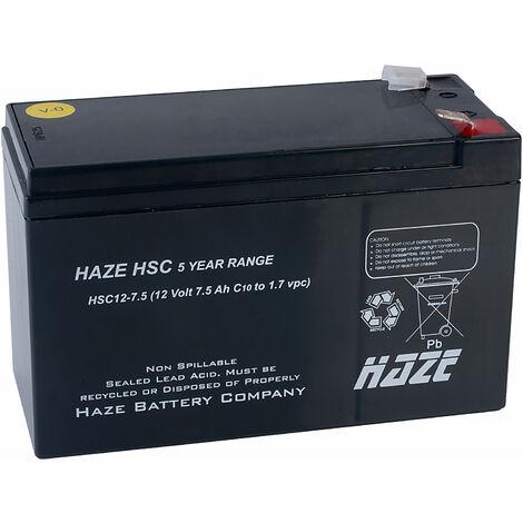 "main image of ""Haze HSC12-7.5_VO 12V 7.5AH SLA Battery"""