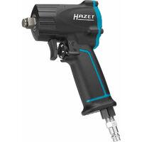 Hazet Clé à chocs extra-courte - Couple de desserrage maximal: 1100 Nm - Carré massif 12,5 mm (1/2 pouce) - Mécanisme de frappe à marteau Jumbo - 9012M