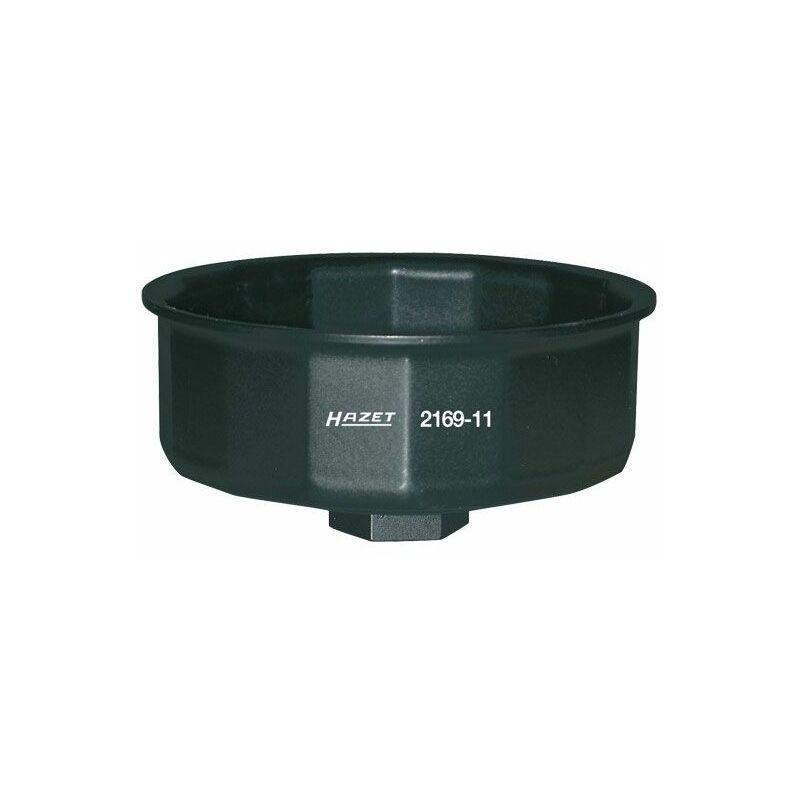 Clé pour filtres à huile - Carré creux 12,5 mm (1/2 pouce) - Profil à 14 pans extérieurs - 2169-11 - Hazet