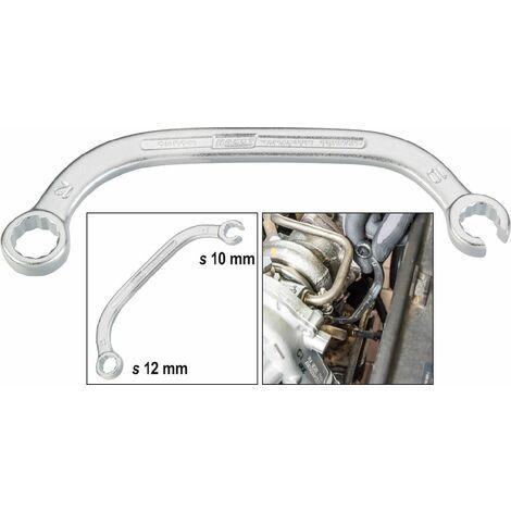 Hazet Clé pour le compresseur turbo (à 12 pans) - Profil à 12 pans extérieurs - Taille: 10 x 12 - Dimension: 147 - 615-S10X12