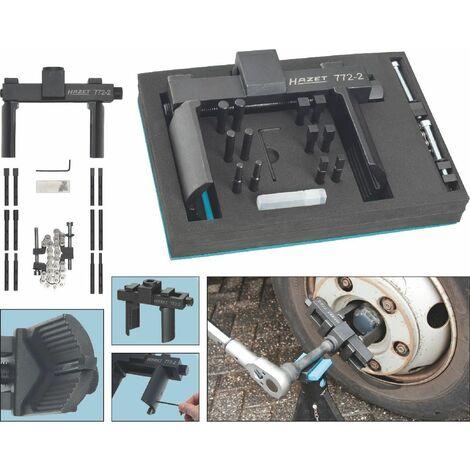 Hazet Jeu de clés universelles pour écrou de moyeu de roue et écrou à encoches - Carré creux 20 mm (3/4 pouce) - Nombre d'outils: 16 - 772-2/16