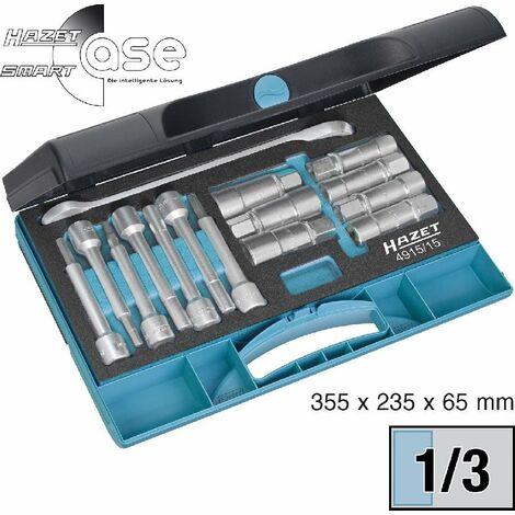 Hazet Jeu d'outils spéciaux pour amortisseur - Carré creux 12,5 mm (1/2 pouce) - Profil TORX intérieur, Profil à 6 pans intérieurs, Profil à pivot creux, Profil à 6 pans extérieurs - Nombre d'outils: 15 -