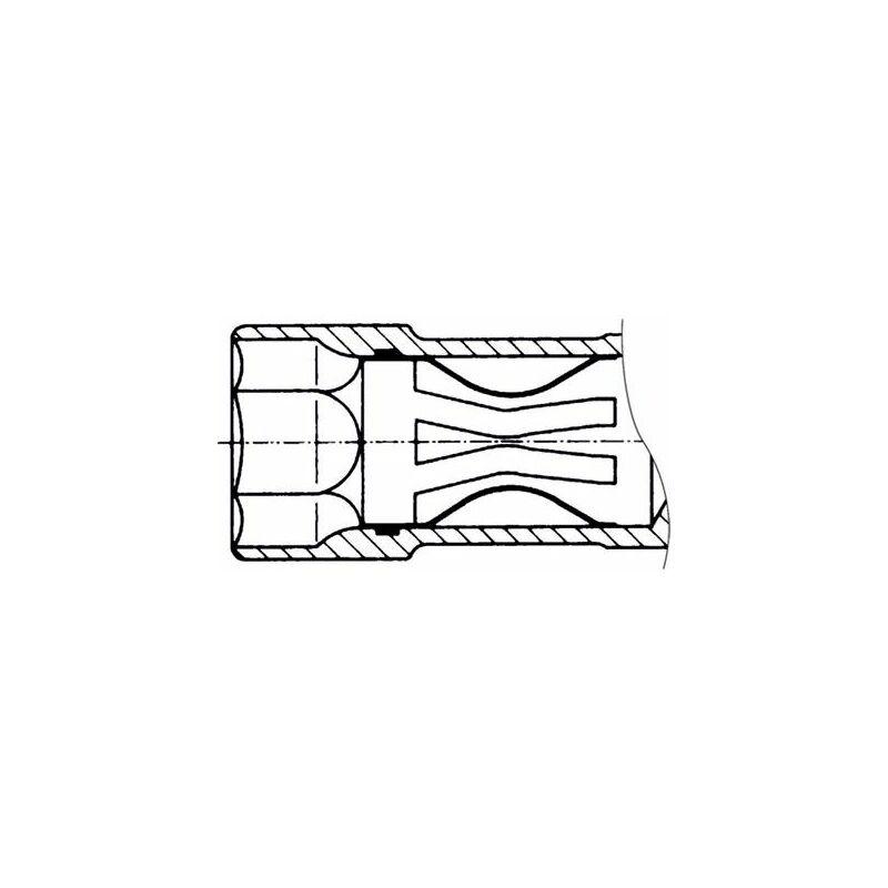 Llave de buj/ía 16 mm, Cuadrado Interior de 10 mm Hazet 4766-1