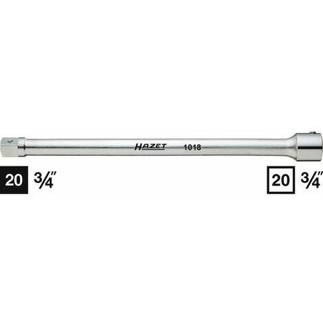 Hazet Rallonge - Carré creux 20 mm (3/4 pouce) - Carré massif 20 mm (3/4 pouce) - Longueur totale: 400 mm - 1018