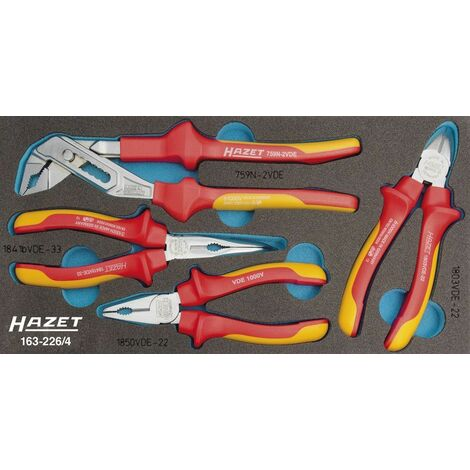 Hazet Zangen-Satz VDE - Anzahl Werkzeuge: 4 - 163-226/4