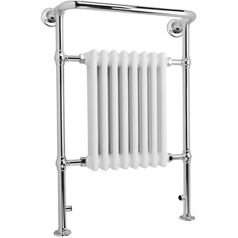 HB Signature Adara Floor Mounted Traditional Heated Towel Rails 963mm x 673mm Central Heating