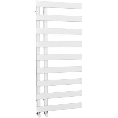 HB Signature Agora Reversible Flat Tube White Designer Heated Towel Rail 1156mm x 500mm Central Heating