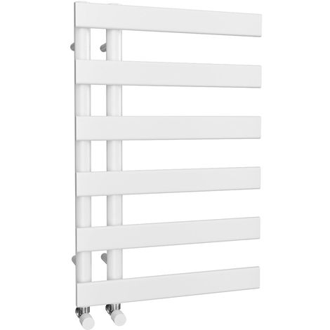 HB Signature Agora Reversible Flat Tube White Designer Heated Towel Rail 748mm x 500mm Central Heating