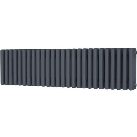 HB Signature Alpha Traditional Anthracite Horizontal Column Radiators 300mm x 1164mm 4 Column