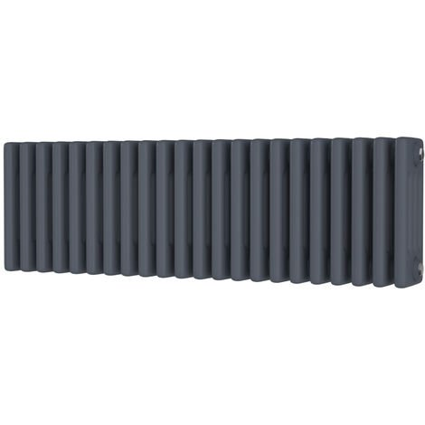 HB Signature Alpha Traditional Anthracite Horizontal Column Radiators 300mm x 988mm 4 Column
