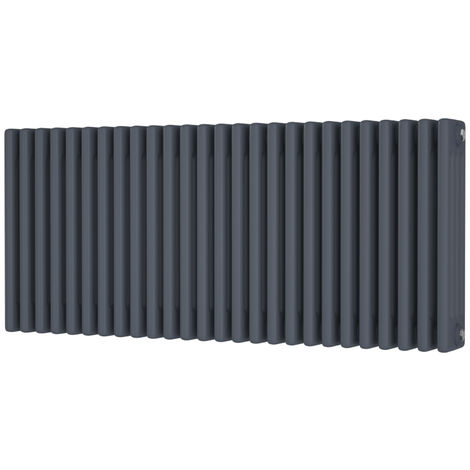 HB Signature Alpha Traditional Anthracite Horizontal Column Radiators 500mm x 1164mm 4 Column