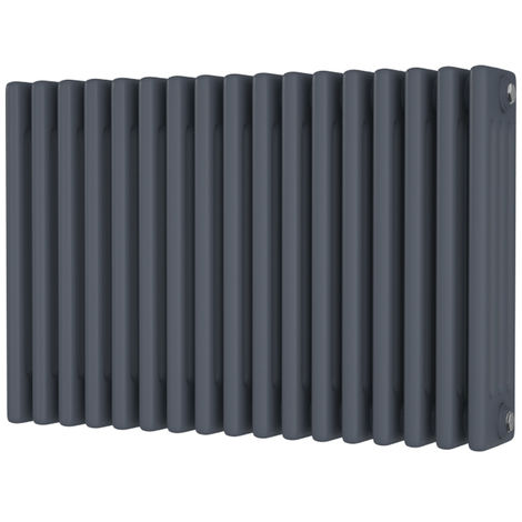 HB Signature Alpha Traditional Anthracite Horizontal Column Radiators 500mm x 768mm 4 Column
