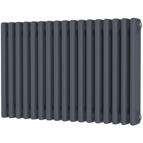 HB Signature Alpha Traditional Anthracite Horizontal Column Radiators 500mm x 777mm 3 Column