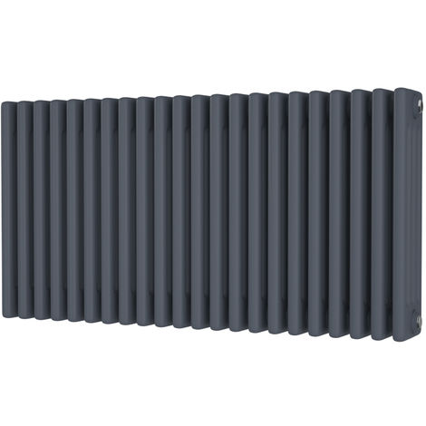 HB Signature Alpha Traditional Anthracite Horizontal Column Radiators 500mm x 988mm 4 Column