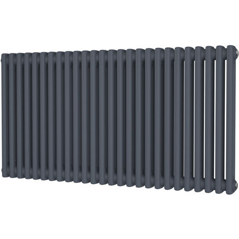 HB Signature Alpha Traditional Anthracite Horizontal Column Radiators 600mm x 1164mm 2 Column