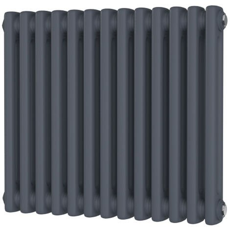 HB Signature Alpha Traditional Anthracite Horizontal Column Radiators 600mm x 1340mm 4 Column