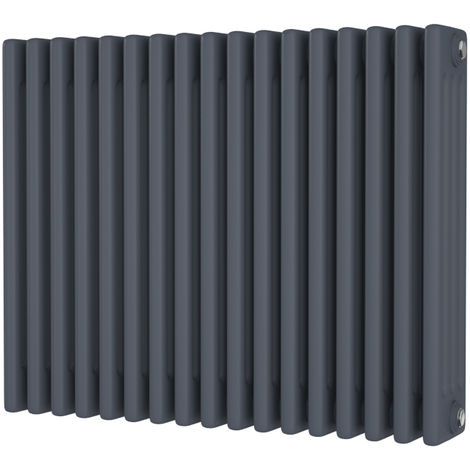 HB Signature Alpha Traditional Anthracite Horizontal Column Radiators 600mm x 768mm 4 Column