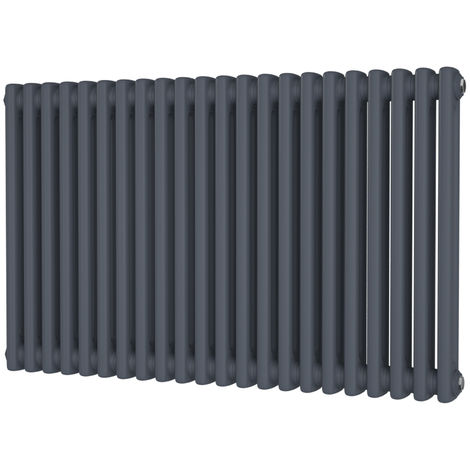 HB Signature Alpha Traditional Anthracite Horizontal Column Radiators 600mm x 988mm 2 Column
