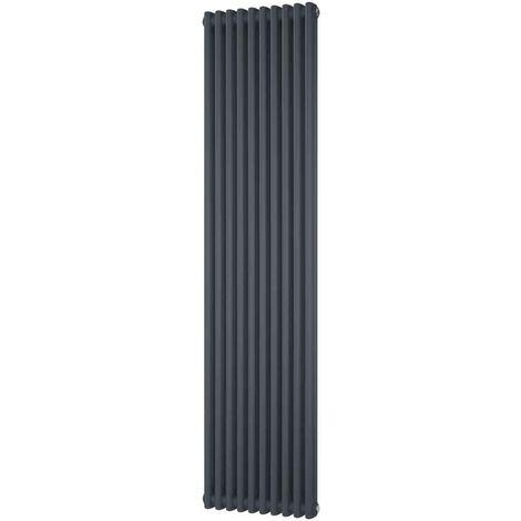 HB Signature Alpha Traditional Anthracite Vertical Column Radiators 1800mm x 460mm 2 Column