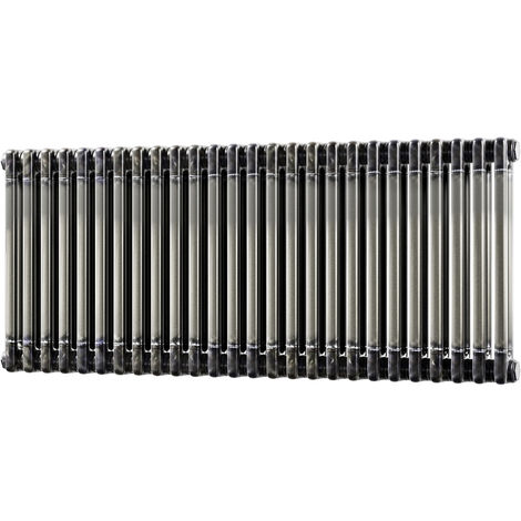 HB Signature Alpha Traditional Raw Metal Horizontal Column Radiators 500mm x 1164mm 2 Column