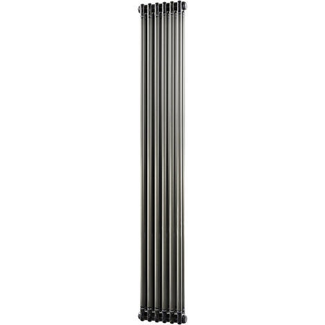 HB Signature Alpha Traditional Raw Metal Vertical Column Radiators 1800mm x 284mm 2 Column