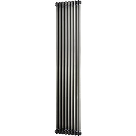 HB Signature Alpha Traditional Raw Metal Vertical Column Radiators 1800mm x 372mm 2 Column
