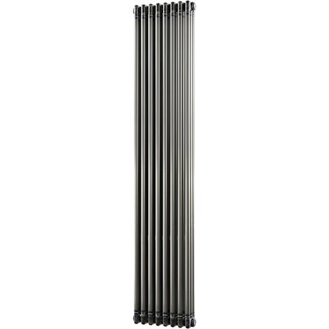 HB Signature Alpha Traditional Raw Metal Vertical Column Radiators 1800mm x 376mm 3 Column