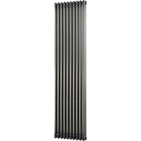 HB Signature Alpha Traditional Raw Metal Vertical Column Radiators 1800mm x 465mm 3 Column