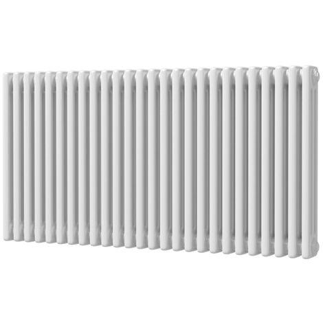 HB Signature Alpha Traditional White Horizontal Column Radiators 600mm x 1177mm 3 Column