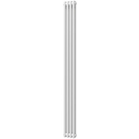 HB Signature Alpha Traditional White Vertical Column Radiators 1800mm x 196mm 2 Column