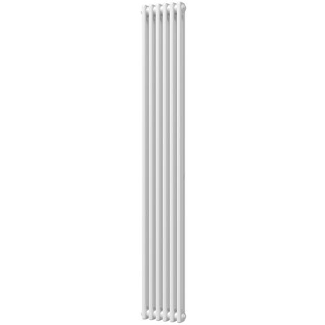 HB Signature Alpha Traditional White Vertical Column Radiators 1800mm x 284mm 2 Column