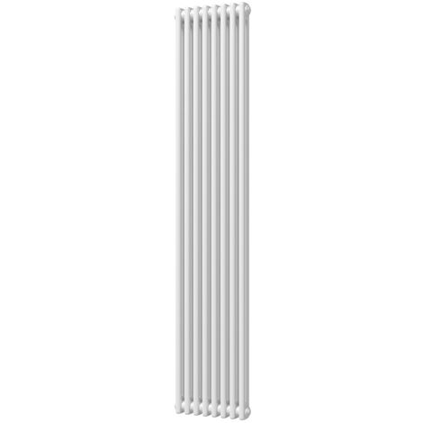 HB Signature Alpha Traditional White Vertical Column Radiators 1800mm x 460mm 2 Column