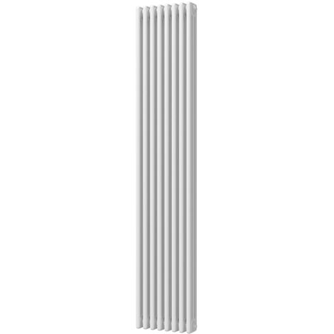 HB Signature Alpha Traditional White Vertical Column Radiators 1800mm x 465mm 3 Column