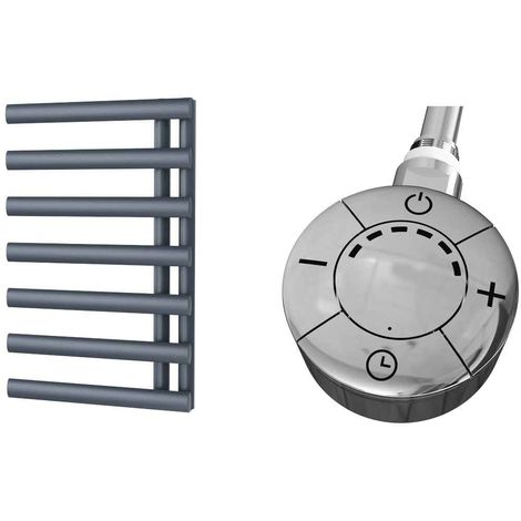 HB Signature Elektra Anthracite Reversible Designer Heated Towel Rail 766mm x 500mm Electric Only - Thermostatic