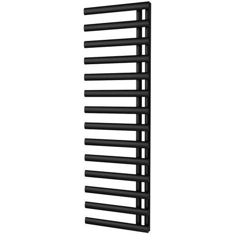 HB Signature Elektra Black Reversible Designer Heated Towel Rail 1592mm x 500mm Central Heating