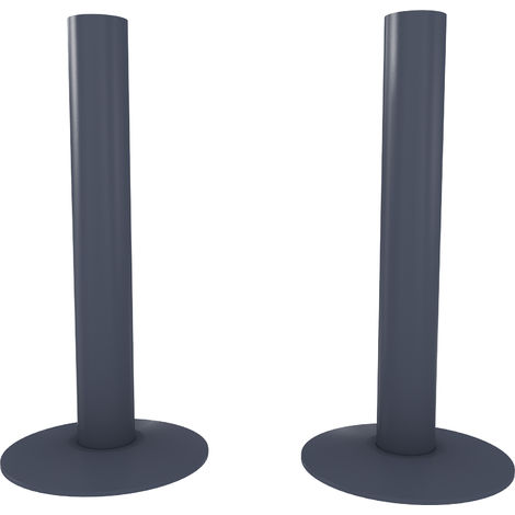 HB Signature Talus Central Heating Pipe Covers 130mm - Anthracite Matte