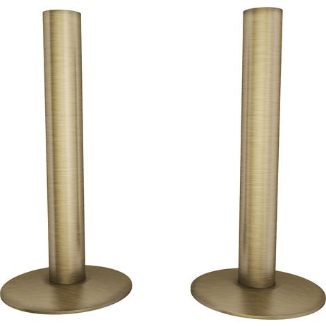 HB Signature Talus Central Heating Pipe Covers 130mm - Antique Brass Brushed
