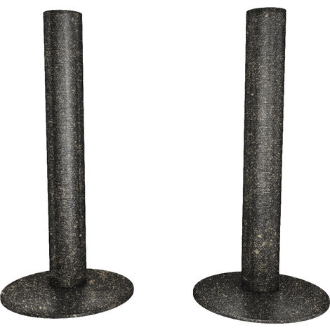 HB Signature Talus Central Heating Pipe Covers 130mm - Pewter Matte