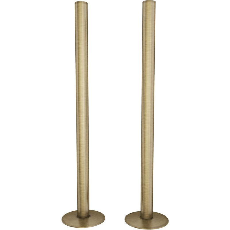 Image of Talus Central Heating Pipe Covers 300mm - Antique Brass Brushed - Hb Signature