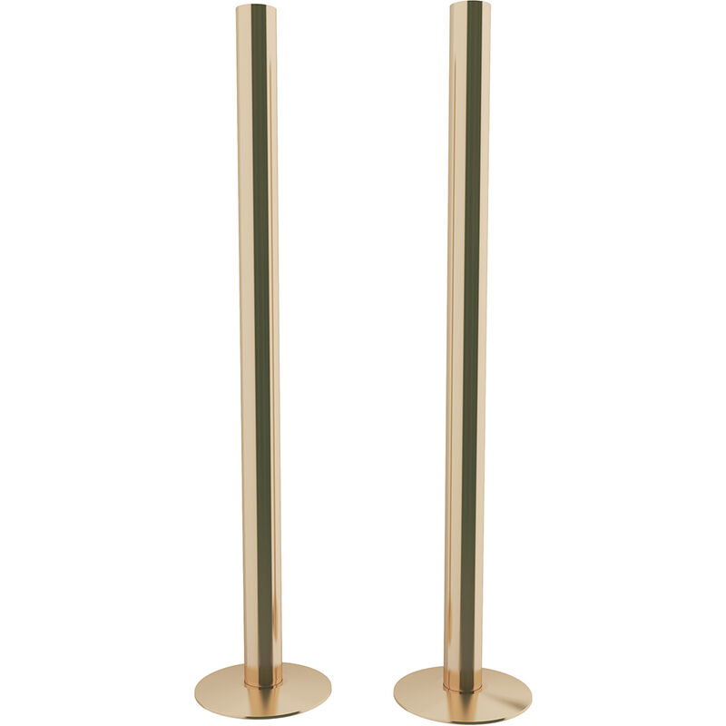 Image of HB Signature Talus Central Heating Pipe Covers 300mm - Polished Brass