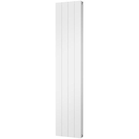 HB Signature Thermo Smooth Aluminium White Vertical Designer Radiator 1800mm x 372mm