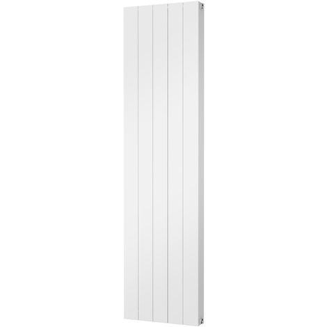 HB Signature Thermo Smooth Aluminium White Vertical Designer Radiator 1800mm x 466mm