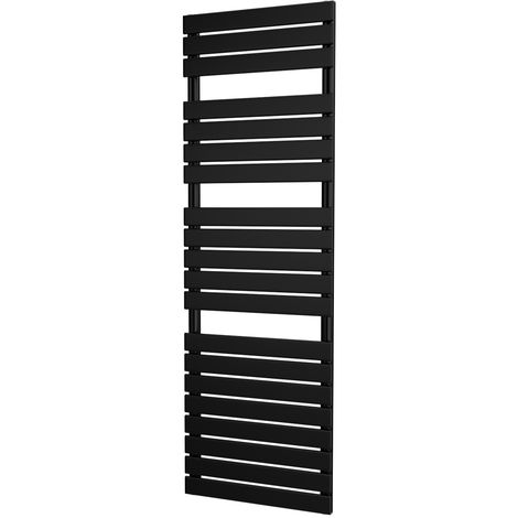 HB Signature Typhon Black Designer Heated Towel Rails 1564mm x 500mm Central Heating