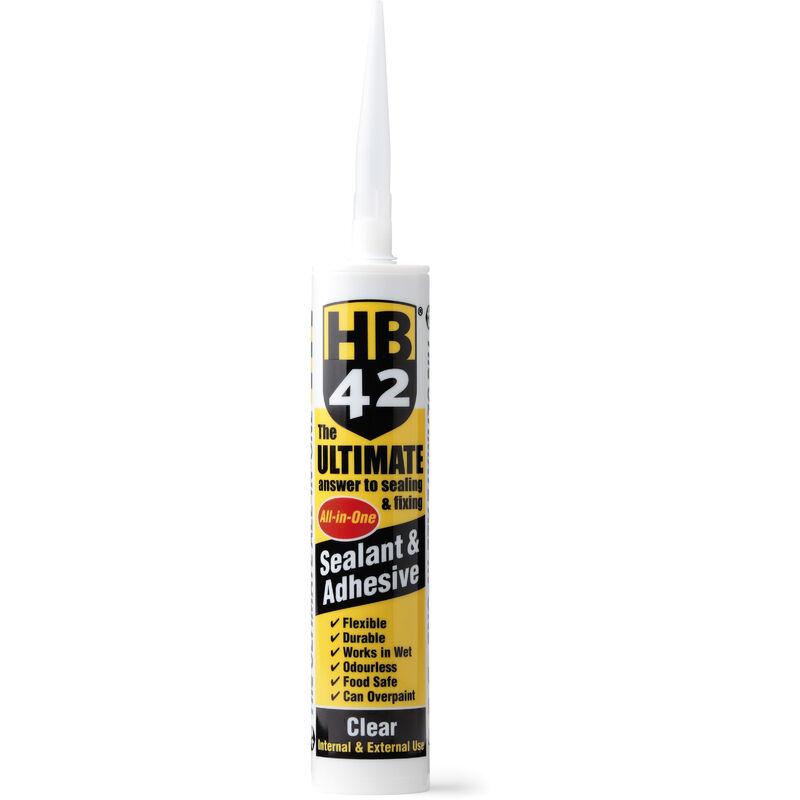 Image of Ultimate Universal Sealant & Adhesive 310ml Cartridge - White - Hb42