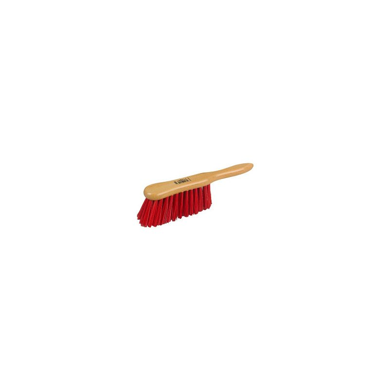 Image of HBC Banister Brush - Lacquered Stock, Stiff Red PVC 6' - COUNTRY CLUB